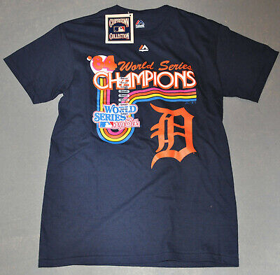1984 World Series Champs - NWT Majestic® Mens DETROIT TIGERS 1984 World Series Throwback CHAMP TEE Small S