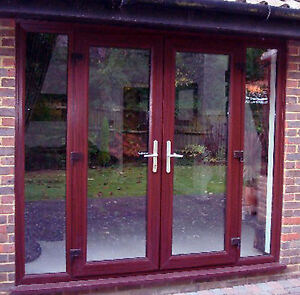 Rosewood upvc door panel ebay for Upvc french doors made to measure
