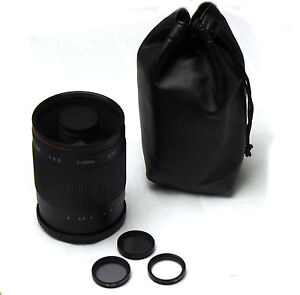 Bower  500mm f/8 Telephoto Mirror Lens for Canon Rebel T4i T3i T3 T2i T2 T1i XT