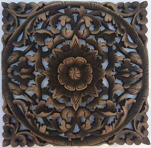 Reclaimed Teak Wood Carving Wall Art Decor Hanging Handmade Taren Point Sutherland Area Preview