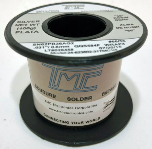 62/36/2 Tin Lead SILVER Solder Wire 2.2% Rosin Flux Sn62 Pb36 Ag2 AUDIOPHILE