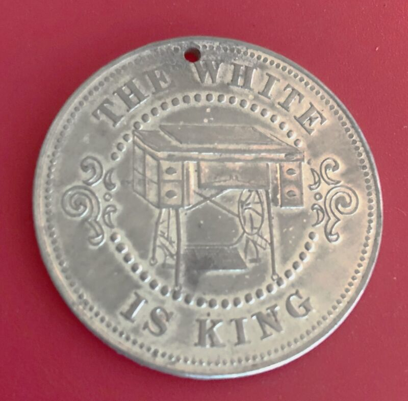 Vintage Advertising Token: WHITE SEWING MACHINE CO, Cleveland,OH; Great Image