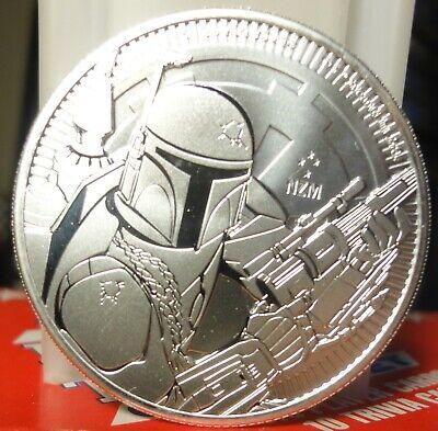 2020 Niue Star Wars Series Boba Fett 1 oz .999 Silver BU Coin