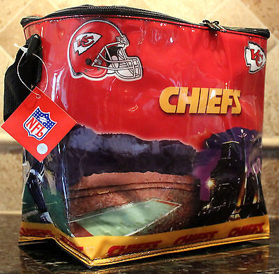 Kansas Cooler (Kansas City Chiefs Cooler Insulated Bag Beer Tailgating NFL Licensed)