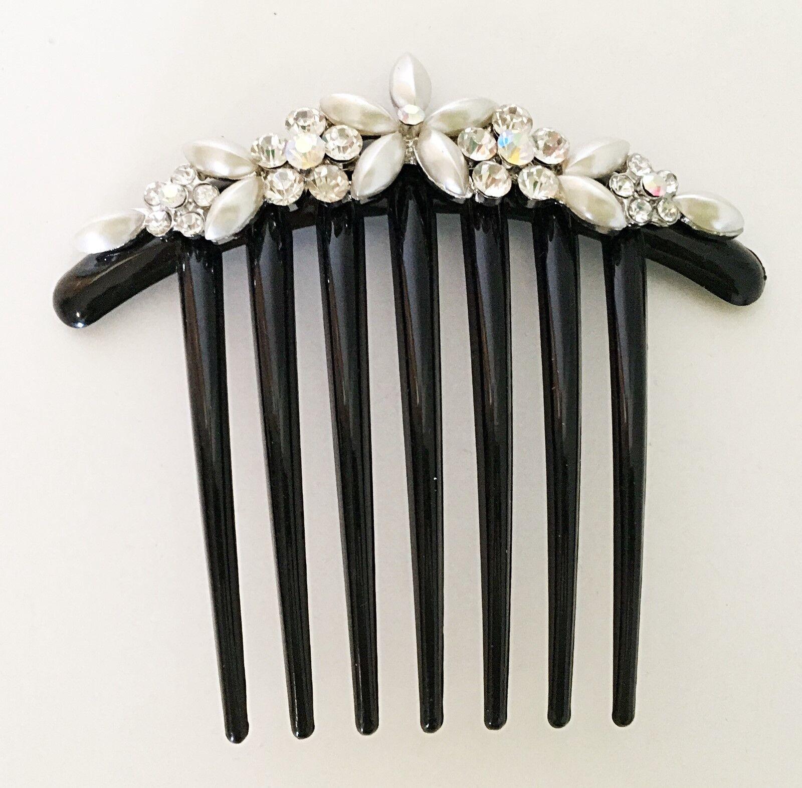 acrylic bridal hair comb crafted imitation pearl