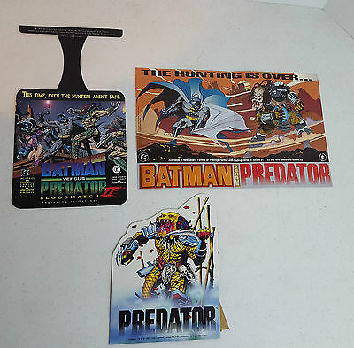 Lot of 3 Promotional Predator Vs. Batman DC Dark Horse Items Posters & Standee