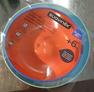 Suavinex - Set Vajilla Bebé Bowl + Plato Infantil BOOO. Apto Microondas...