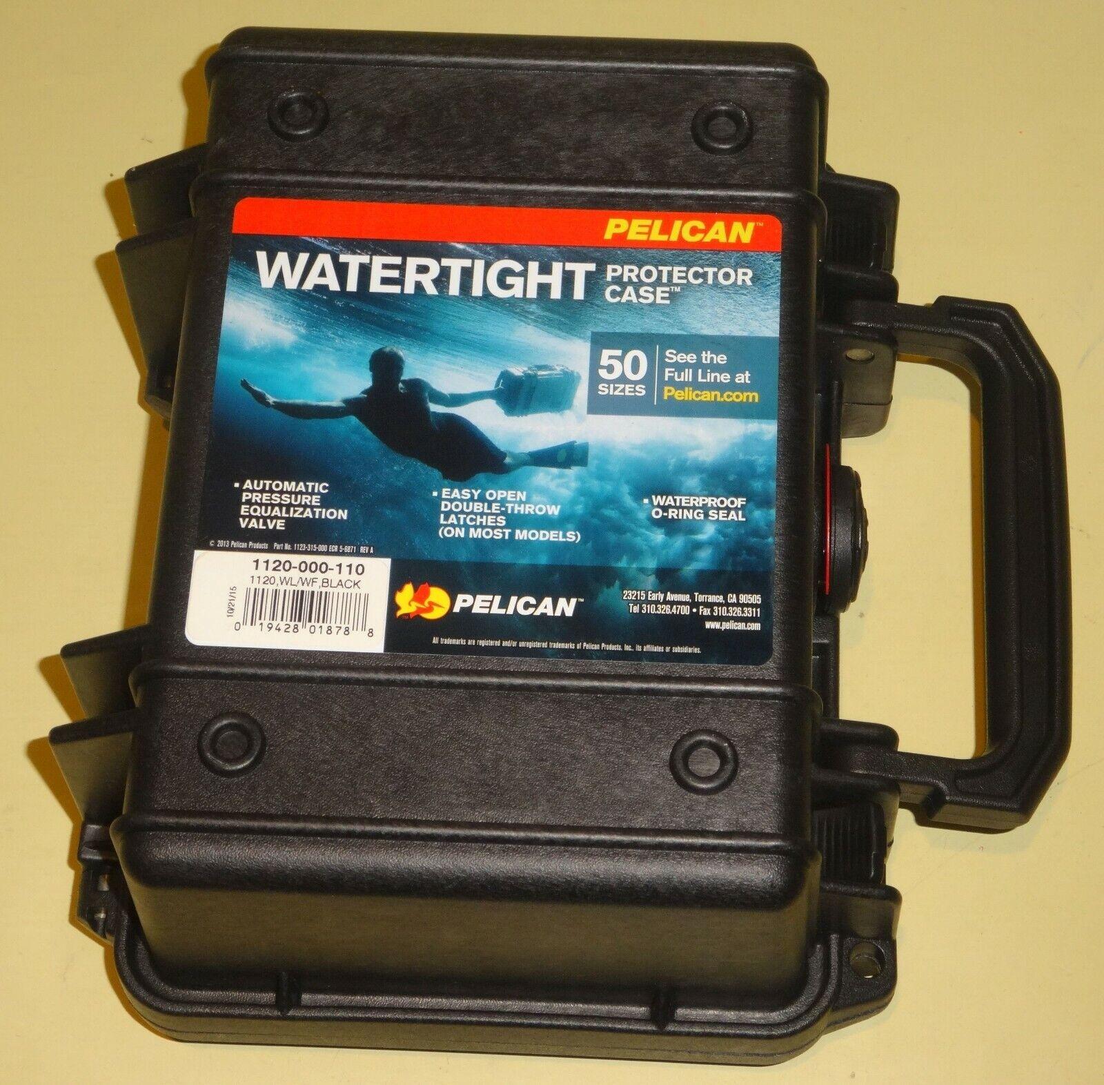 "Equipment Case with Foam: 6.5"" x 8.13"" x 3.5"" Color: Black"