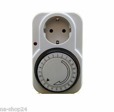 Analoge Tages - Zeitschaltuhr mit integriertem Kinderschutz 230V 16A Time switch
