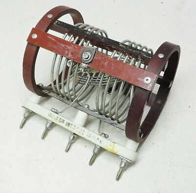 Variable Coil Inductor Unit C-447 10.0 - 11.0 Mc Vintage Ham Tube Radio Parts