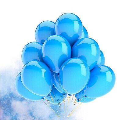 300x Luftballons Ballons Luftballon Luft, Helium blau Hochzeit Deko Dekoration ()