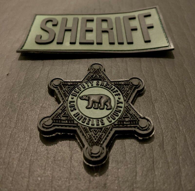Los Angeles County Sheriff Department / LASD Subdued 3D PVC STAR & SHERIFF PATCH