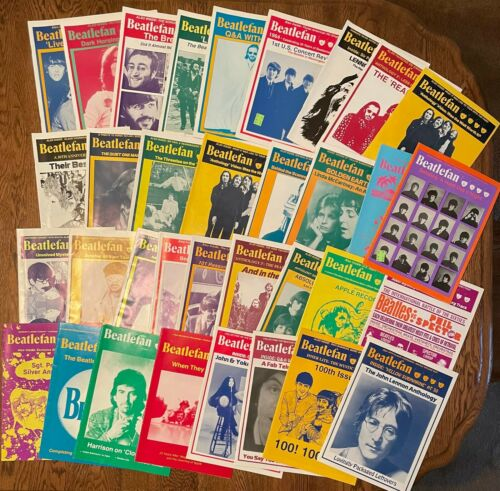 The Beatles - Beatlefan Magazines Lot of 95 issues from 1979-2001