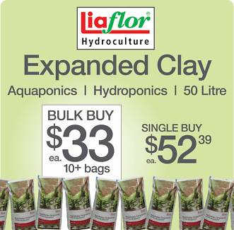 Expanded Clay 50L BULK 10+ bags