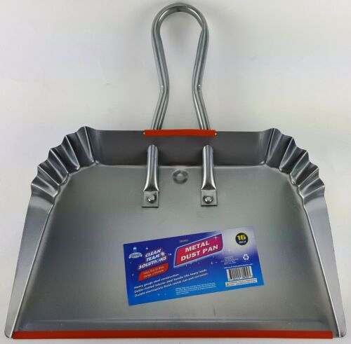 "16"" WIDE STEEL DUST PAN great for shop and quick pickups"
