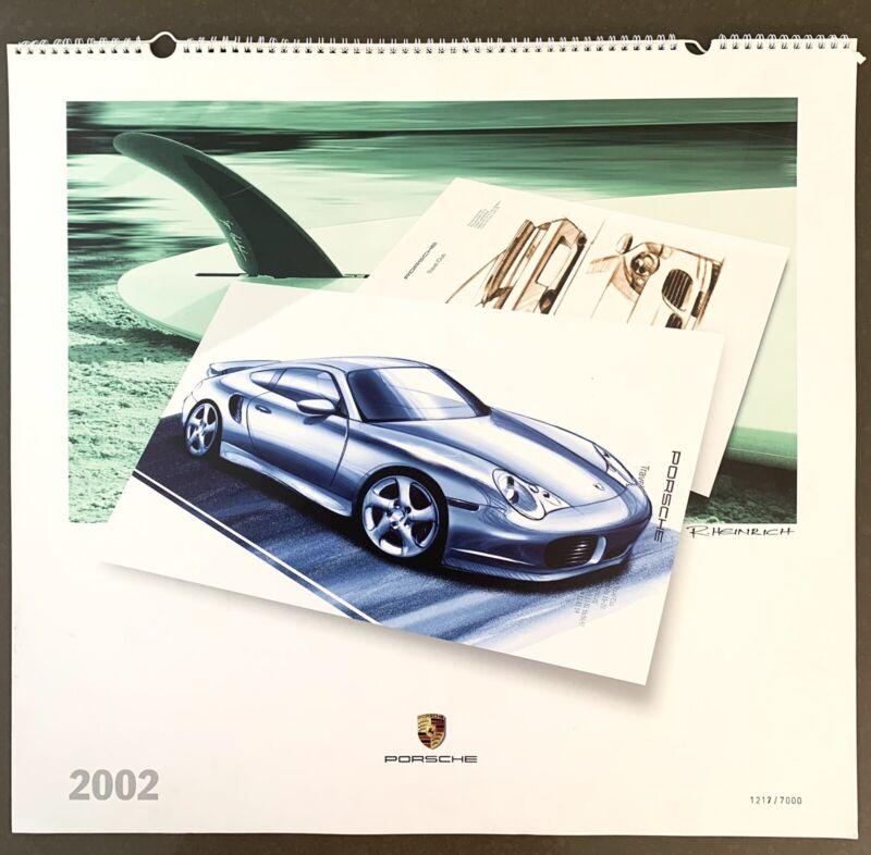 PORSCHE CALENDAR 2002 PORSCHE DESIGN 1217/7000 LIMITED EDITION STYLE PORSCHE