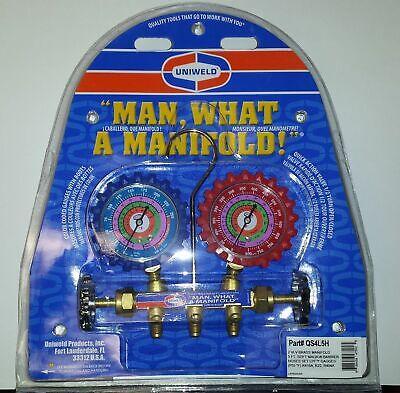 Ac Manifold Gauges Uniweld Qs4l5h For R410a R22 R404a W 5 Hoses Br. Manifold