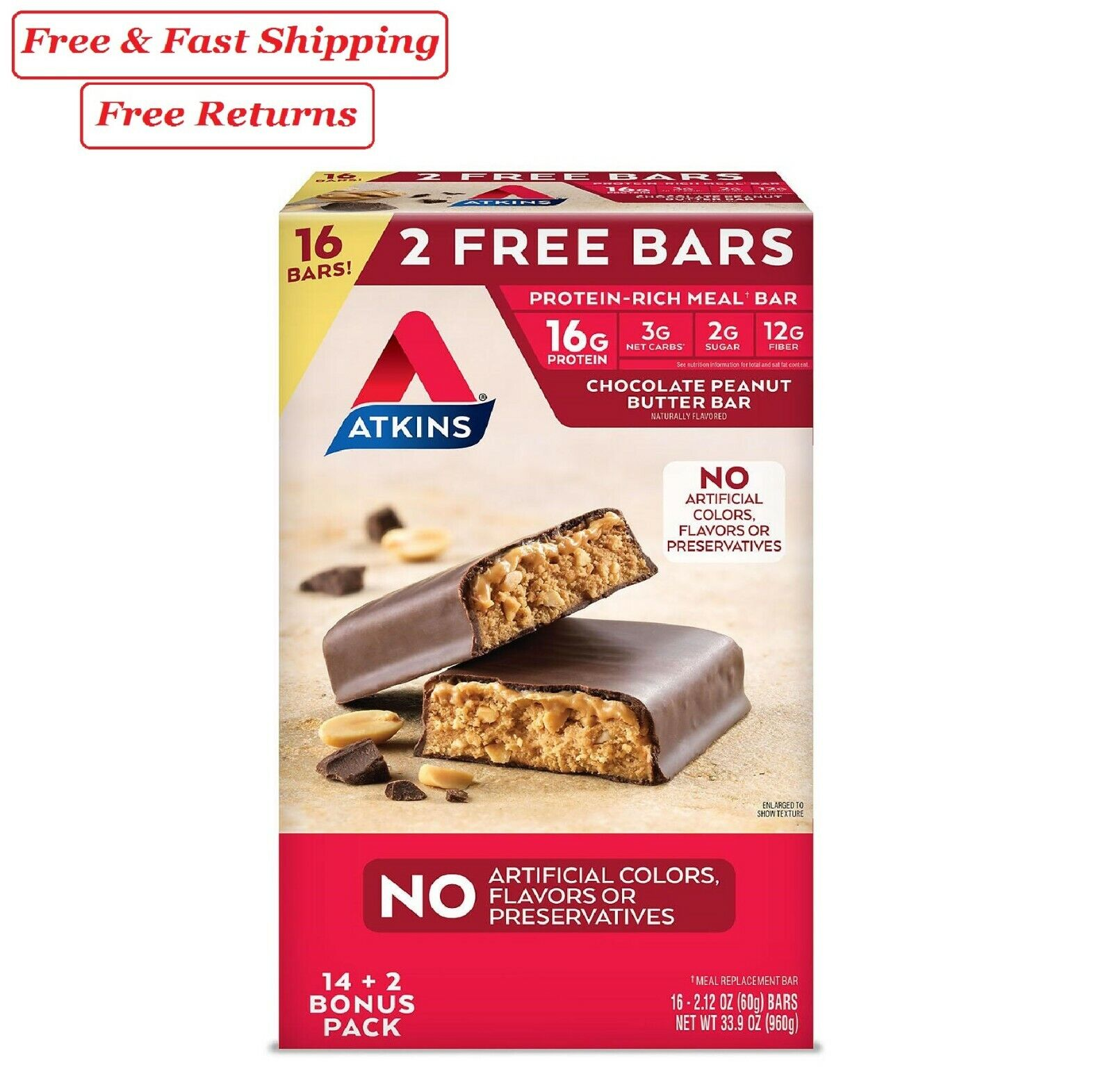 meal bar chocolate peanut butter pack 14