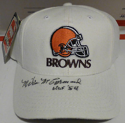 Mike McCormack Autograph Hat Signed Cleveland Browns Cap Hall of Fame HOF AUTO