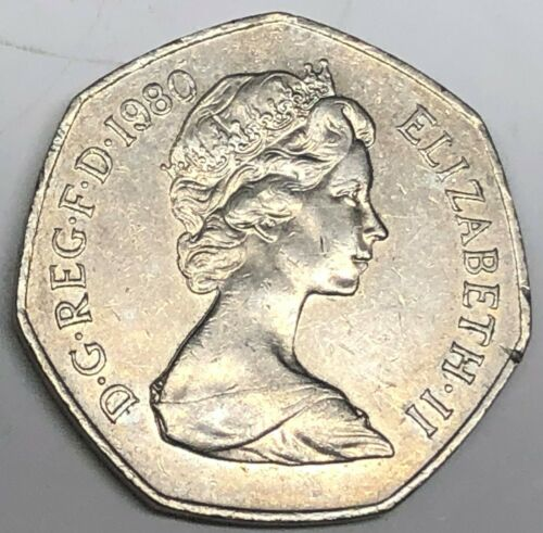 # C2175    GREAT BRITAIN     COIN,     50  PENCE   1980