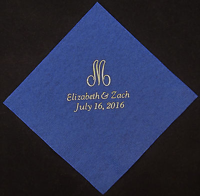 425 personalized monogram napkins wedding luncheon napkins custom printed  - Monogrammed Wedding Napkins