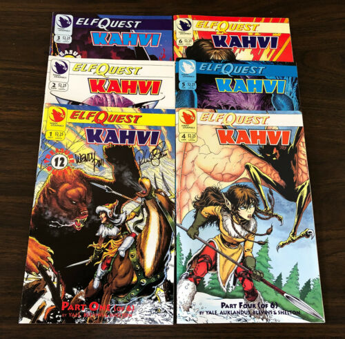 ELFQUEST Kahvi COMPLETE SET 6 issues NEW (#1 SIGNED)
