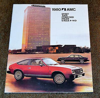 VTG 1980 Advertising AMC Spirit AMC Concord Pacer Eagle Brochure N