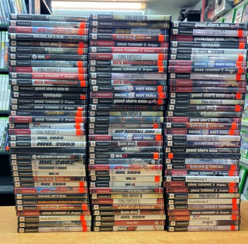 Huge Sony Playstation 2 Video Game Lot (107 games) Clean CDs Fast Shipping