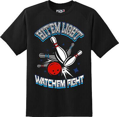 Hit Lights T-shirts (Funny Hit Them Light Bowling Sports T Shirt  New Graphic Tee  )