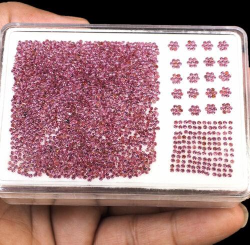 2000 Pcs Loose Rhodolite Garnet 1.2mm Diamond Cut Natural Gemstones Wholesale