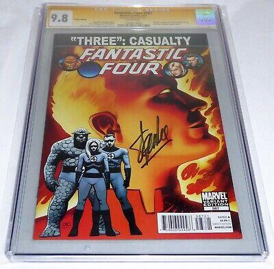 Fantastic Four #587 CGC SS Signature Autograph STAN LEE 9.8 Death Human Torch JS