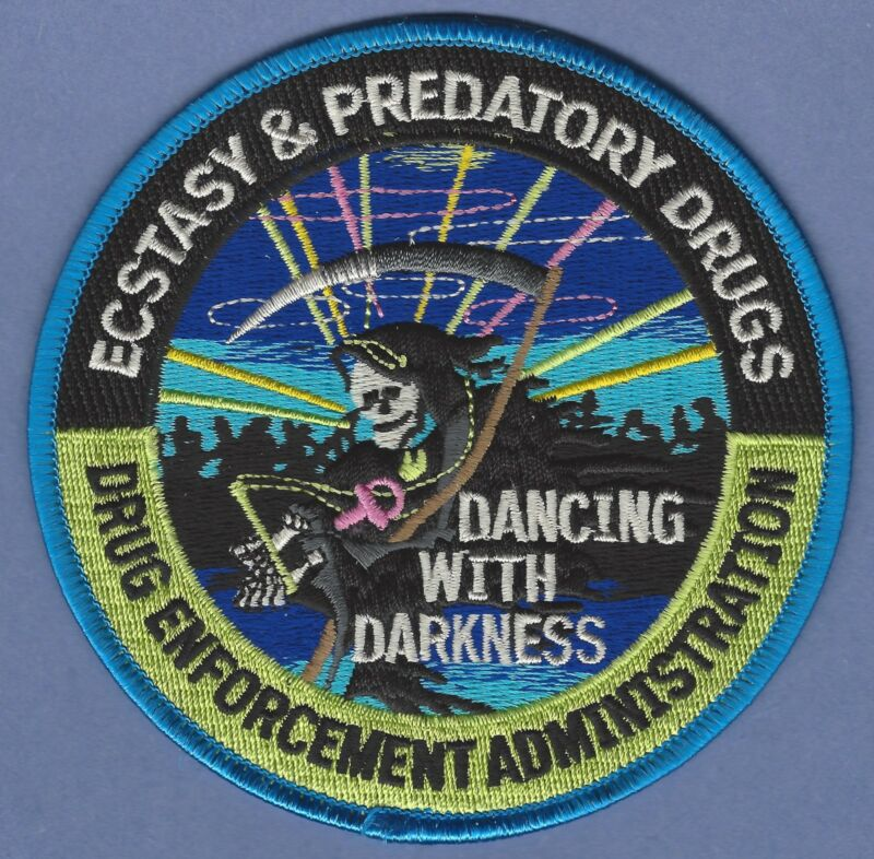 DEA DRUG ENFORCEMENT ADMINISTRATION ECSTACY & PREDATORY DRUGS UNIT PATCH