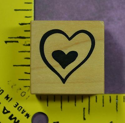 PSX DOUBLE HEARTS B-1900 love wedding engagement anniversary rubber stamp