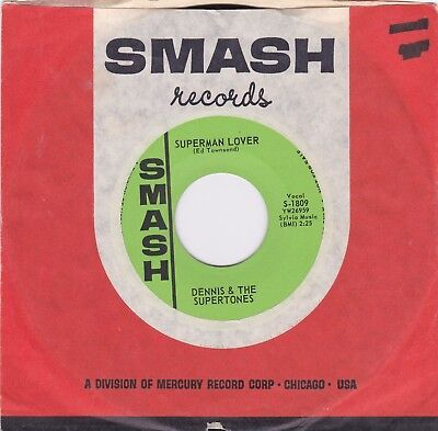 NORTHERN SOUL 45RPM - DENNIS AND THE SUPERTONES ON SMASH - RARE PROMO!  SLEEVE!
