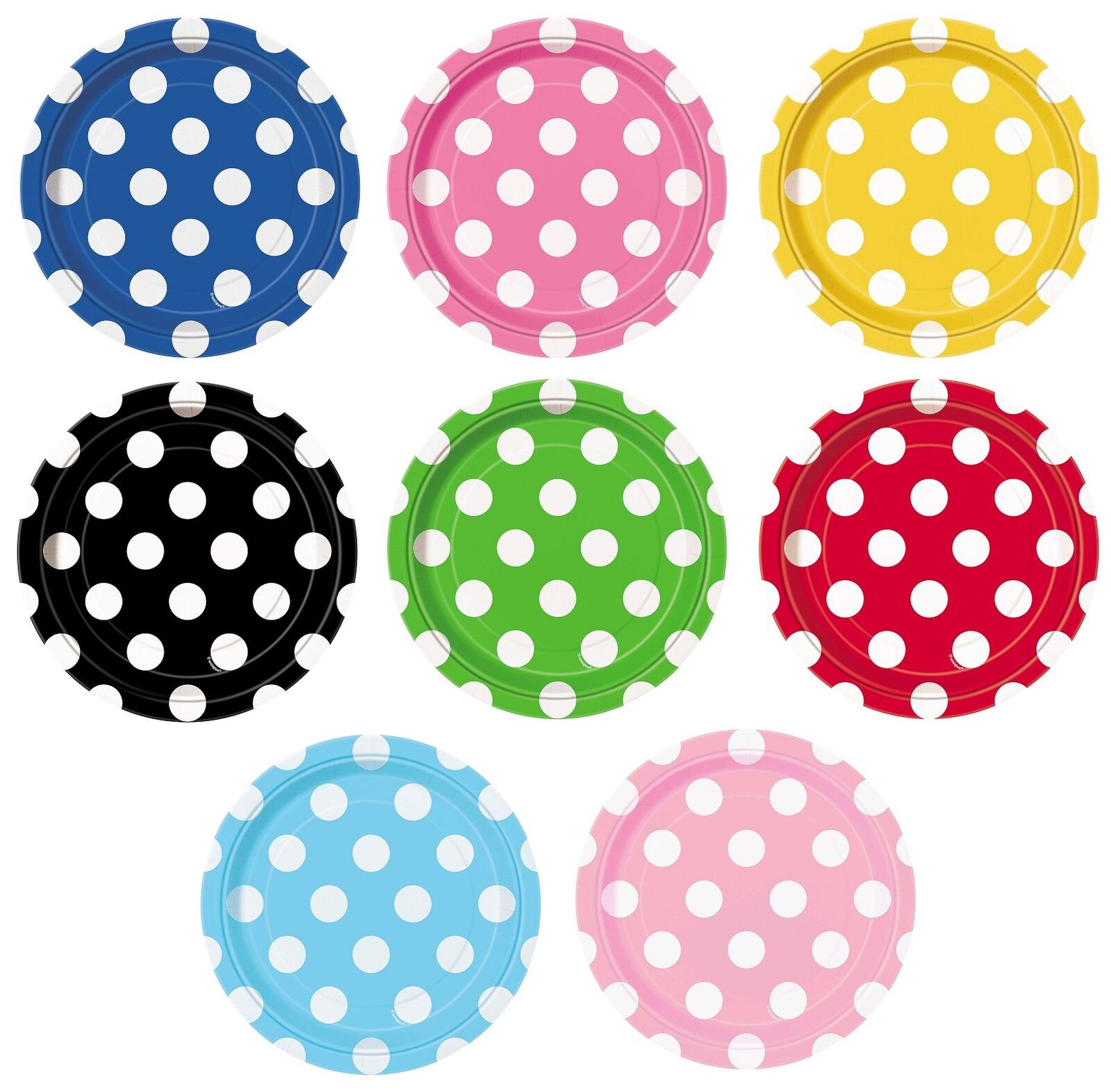 polka dot paper plates Add a fun design to your next party with polka dot party supplies from birthdayexpress accessory available in bright polka dots big or small paper plates.
