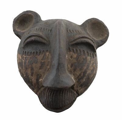Masquette Mask Diminutive Zoomorphic Terracotta Fetish Case Art African 1139