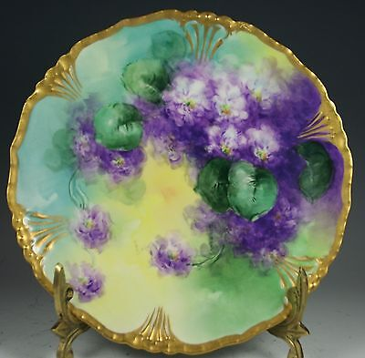 Beautiful Limoges Plate Gold Trim #8