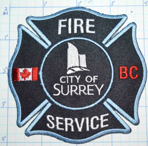 CANADA, CITY OF SURREY FIRE SERVICE BRITISH COLUMBIA BLUE PATCH