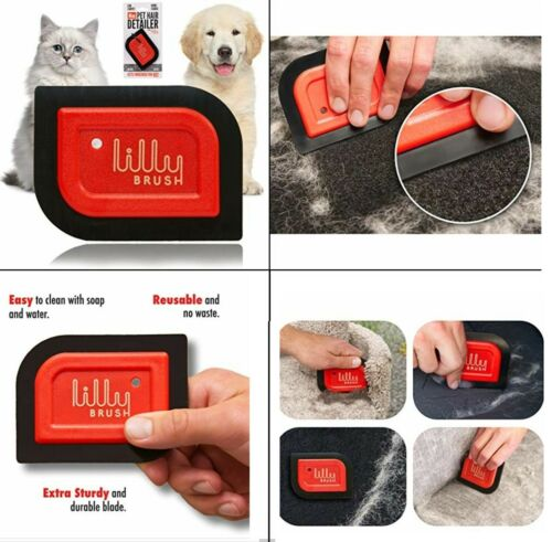 Lilly Brush Mini Pet Hair Detailer Car Carpet and Home Fabric