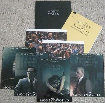 ALL THE MONEY IN THE WORLD 2017 MOVIE PRESS KIT PRODUCTION NOTES RIDLEY SCOTT