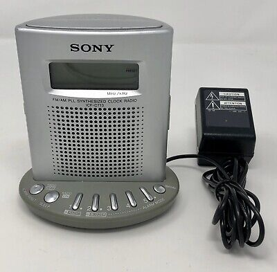 Sony ICF-C713 FM/AM Compact Synthesized Bedside Desk Radio Alarm Clock