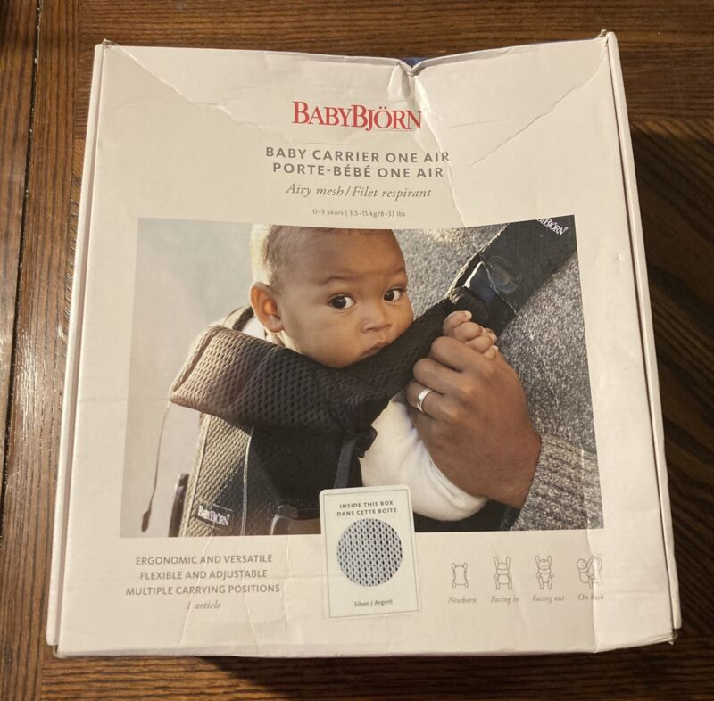 BABYBJORN AIR ONE baby carrier. Sliver/Gray