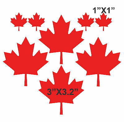 - Set of 8 MAPLE LEAFS Vinyl Decal Sticker - Canadian Flag Car Truck Motorcycle