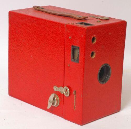 F90329~ Bright Red Kodak Rainbow Hawk-Eye No. 2-A Model B Box Camera