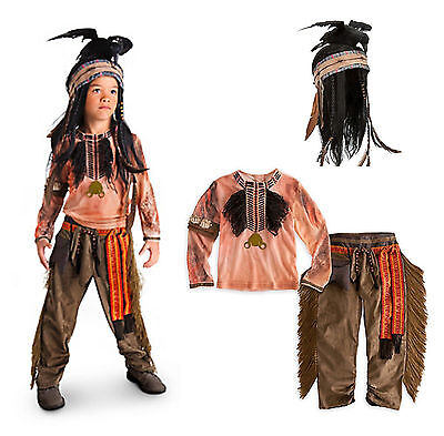 NWT DISNEY LONE RANGER TONTO COSTUME 2 piece NATIVE AMERICAN INDIAN 2 3 4