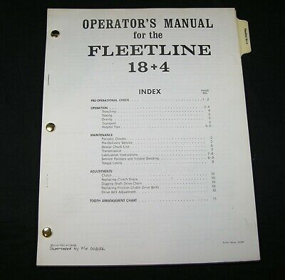 Case Davis Fleetline 184 Trencher Parts Operator Maintenance Manual Book Oem