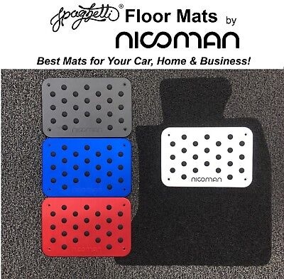 Metal Heel PadCar Foot Rest Pedal PlateFloor Mat Carpet Hole CoverAudi TT A3