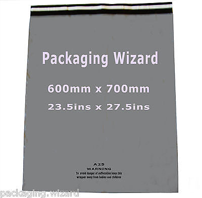 5 x Mailing / Postal Sacks XL ~ Biodegradable ~ Grey ~ 600mm x 700mm ~ Self Seal