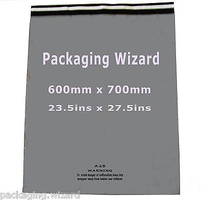 5 x Mailing / Postal Sacks XL ~ Biodegradable ~ Grey ~ 600mm x 700mm ~ Self Seal