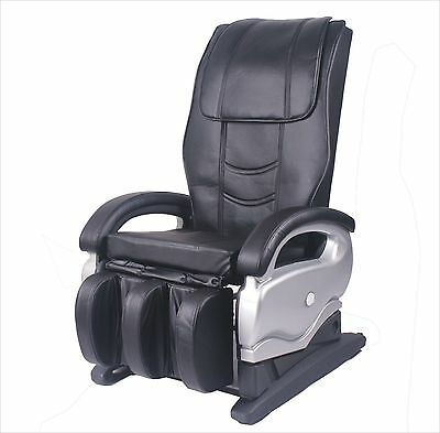 Electric Full Body Shiatsu PU Leather Massage Chair Recliner Chairs 8881 Black